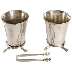 Original Michael Aram Hands and Feet Ice Bucket Pair with Tongs