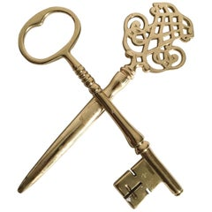 Brass Letter Opener and Paperweight