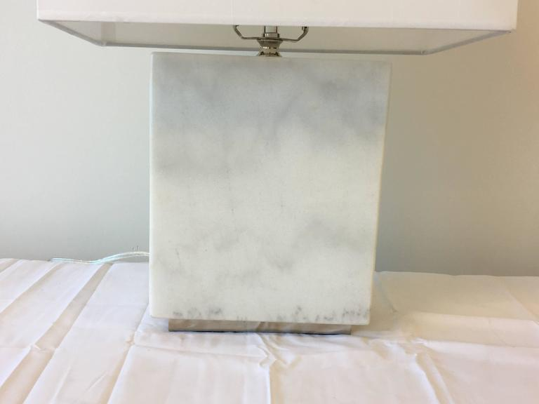 Ralph Lauren Modern Solid White Marble Lamp At 1stdibs