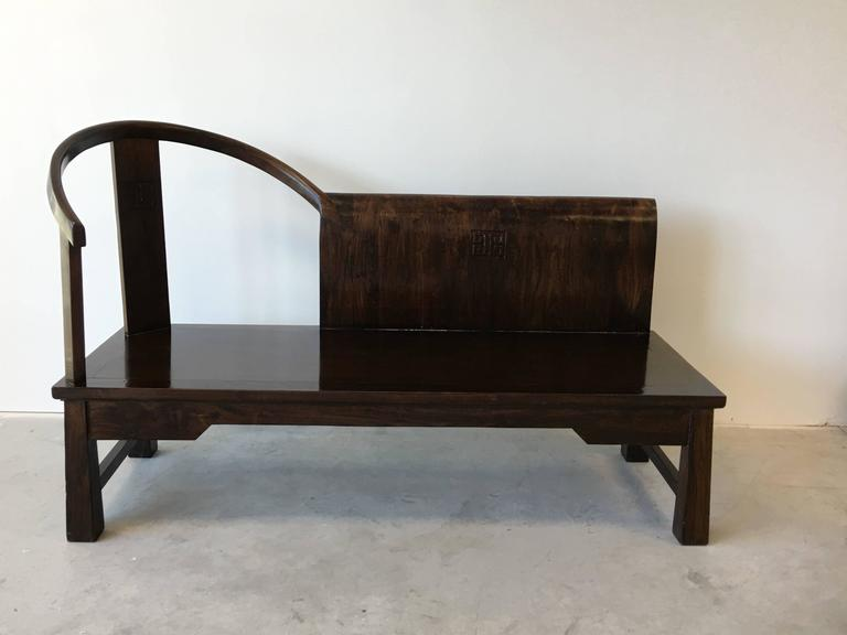 1920s chinese art deco opium elm wood chaise lounge at 1stdibs for Art deco chaise lounge