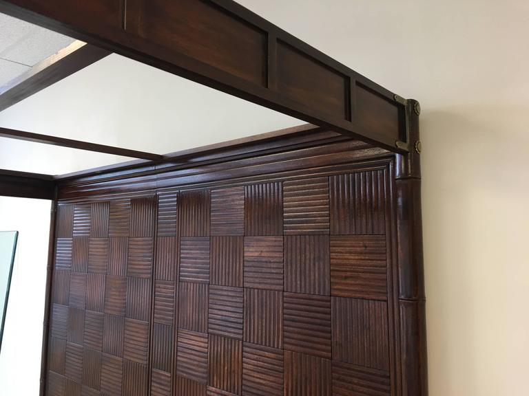 1970s Henredon Faux Bamboo Campaign Style Canopy Bed For King Size At 1stdibs