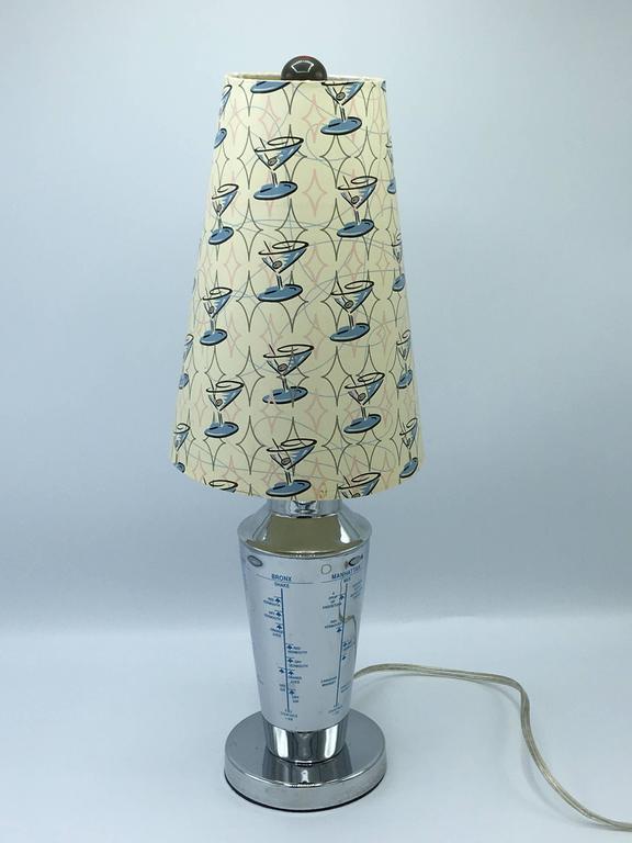 1960s Chrome Martini Shaker Lamp For Sale at 1stdibs