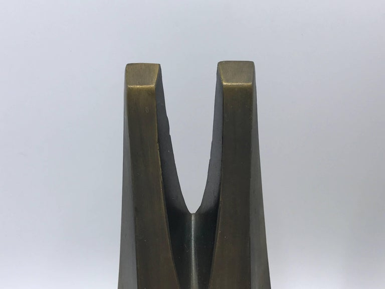 American 1970s Pair of W. Macowski Modern Sculptural Bookends For Sale