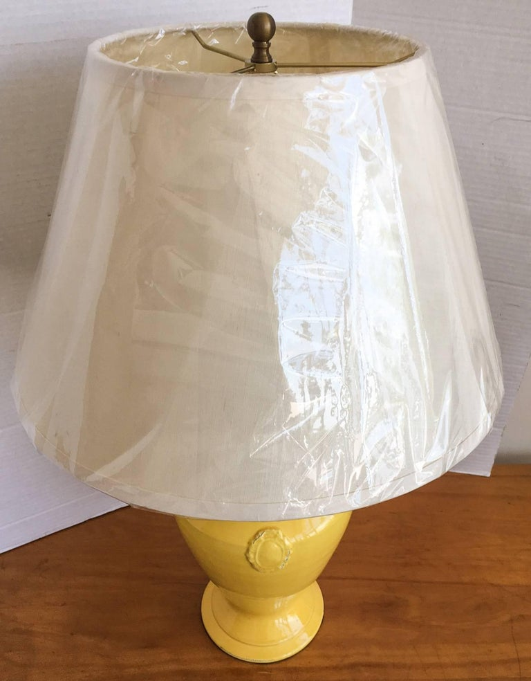 Chelsea House Yellow Urn Lamp With Shade At 1stdibs