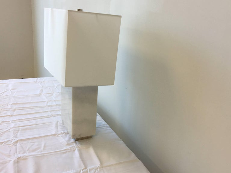 Ralph Lauren Marble Lamp With Shade At 1stdibs