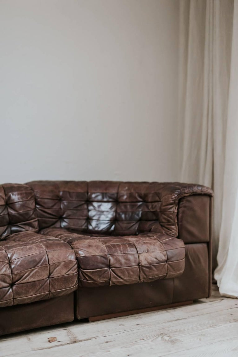 20th Century Leather Sectional Sofa by De Sede, Switzerland For Sale 2