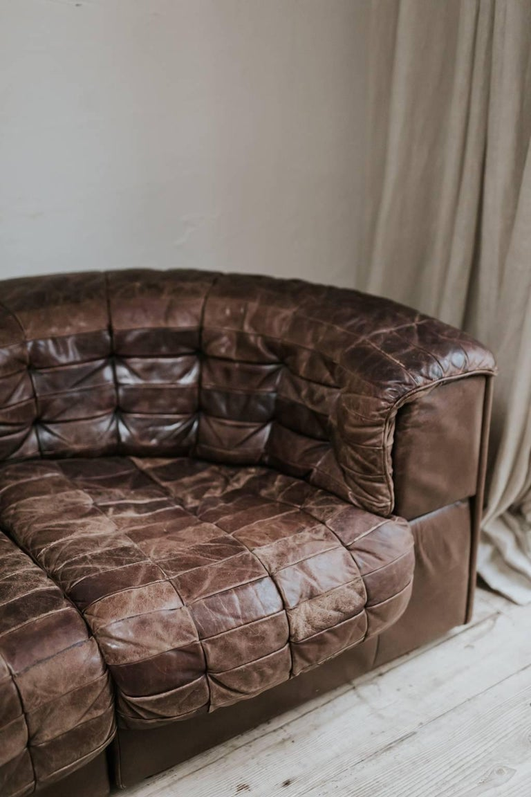 20th Century Leather Sectional Sofa by De Sede, Switzerland For Sale 1