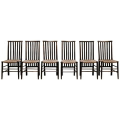 Early 20th Century Set of Six Arts & Crafts Dining Chairs