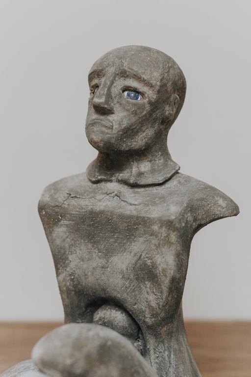 European 20th Century Resin Male Figure For Sale