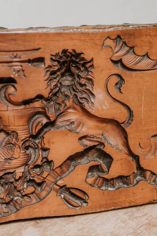 A very rare boxwood bakers mold, very fine carving quality.