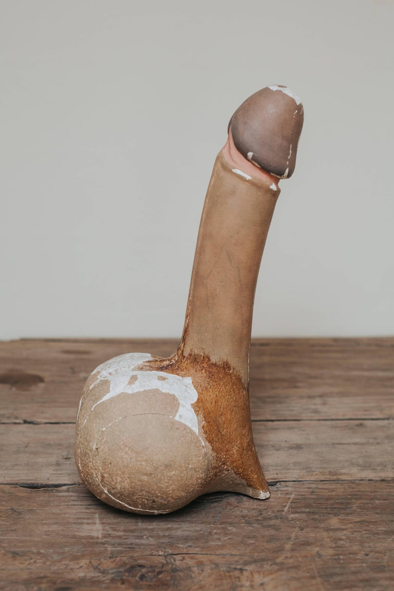 The pencil of love.  This is an XL didactic anatomical teaching aid, carved timber and gesso, original polychrome paint, used in a school in Germany round the turn of the century, circa 1900,  a true collectors item, master piece for the curiosity