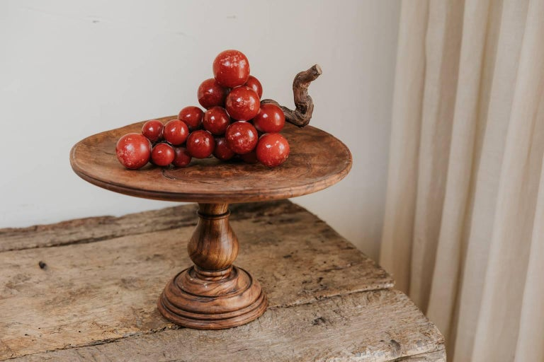 French 19th Century Pair of Root Chestnut Tazza's For Sale