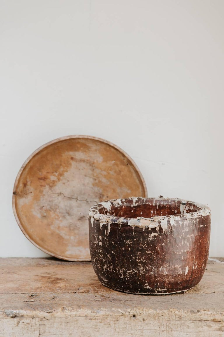 19th Century Papier Mâché and Wicker Teabowl For Sale 1