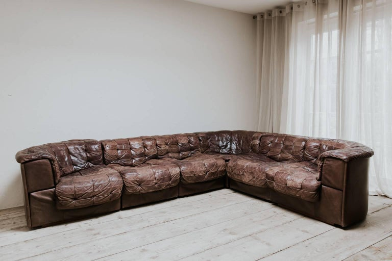 20th Century Leather Sectional Sofa by De Sede, Switzerland For Sale 5