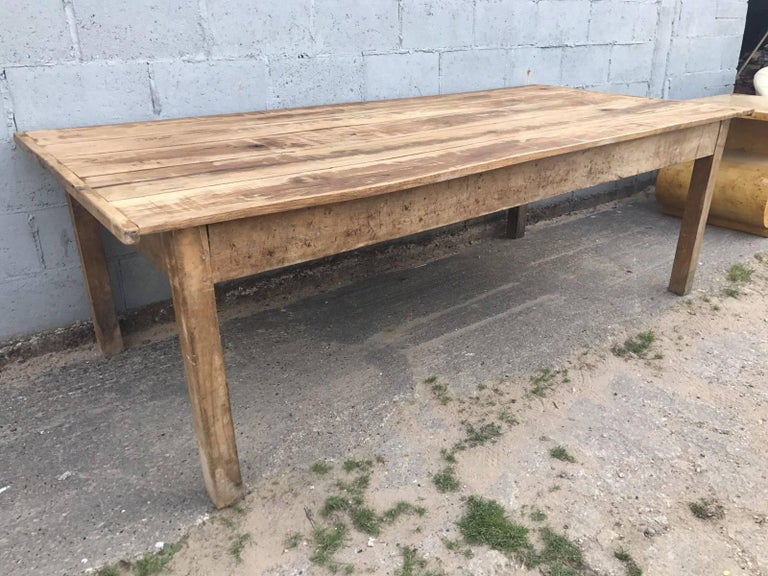 French Antique Oak Farmhouse Table For Sale at 1stdibs