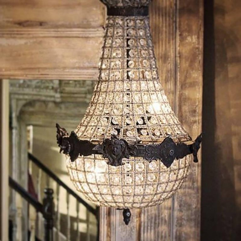 Antique french chandelier vintage industrial for sale at 1stdibs antique french chandelier vintage industrial for sale 1 aloadofball