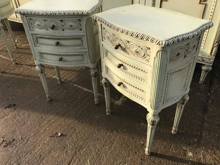 Pair Of French Antique Bedside Tables For Sale At 1stdibs