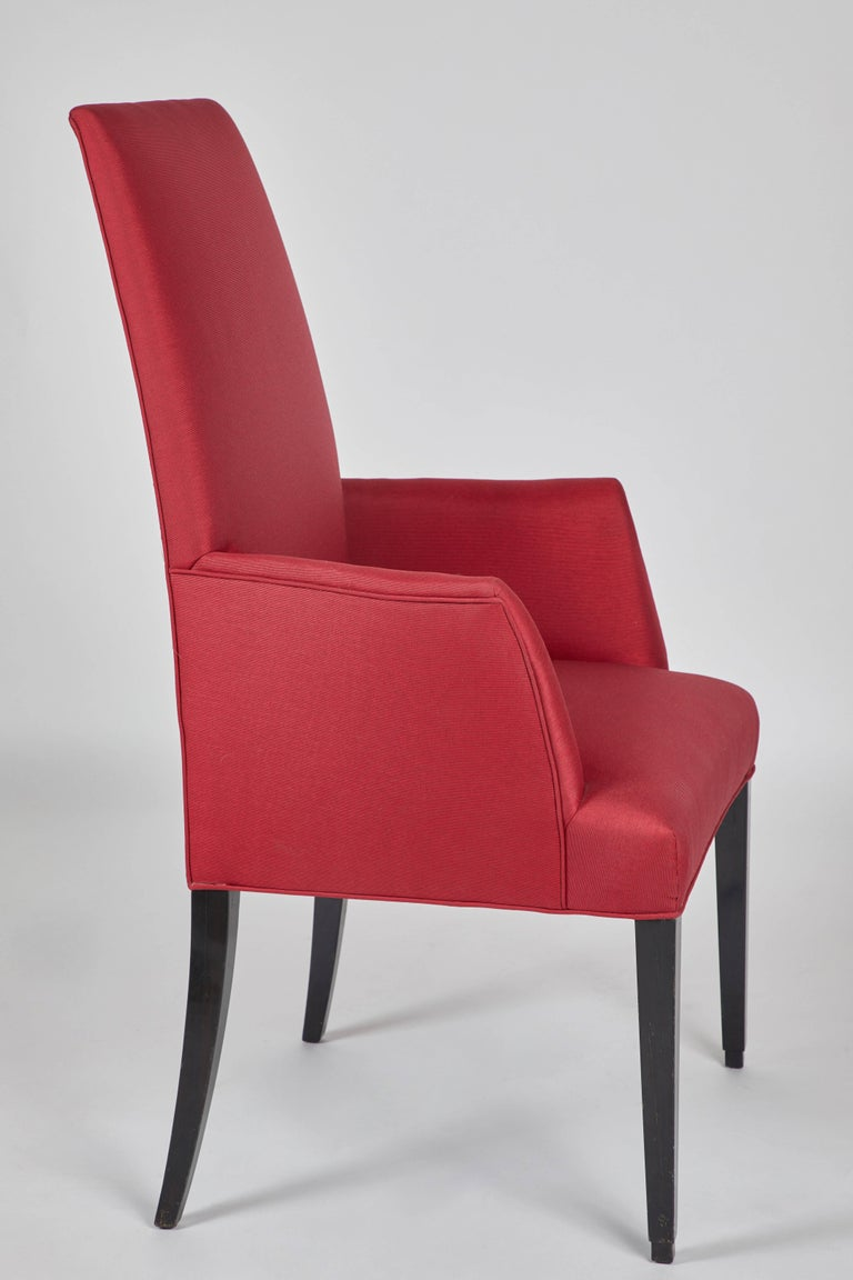 Modern Set of 12 Red Dining Chairs For Sale