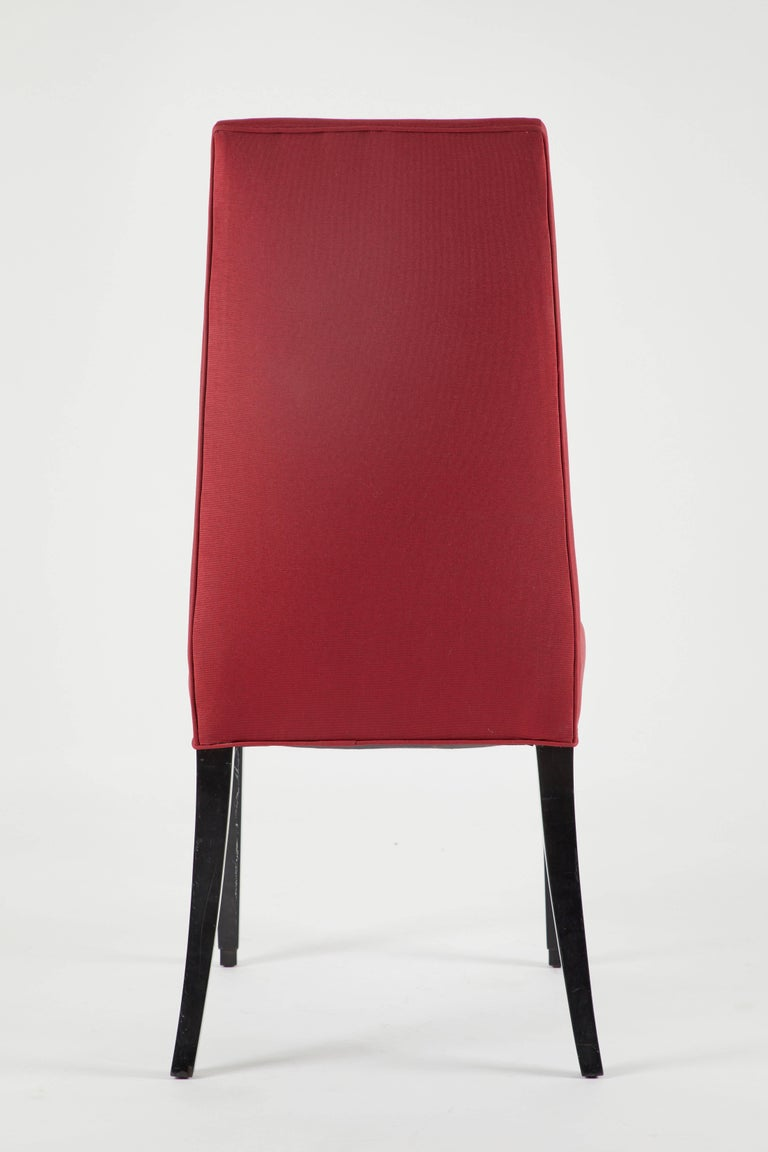 Set of 12 Red Dining Chairs In Good Condition For Sale In LOS ANGELES, CA