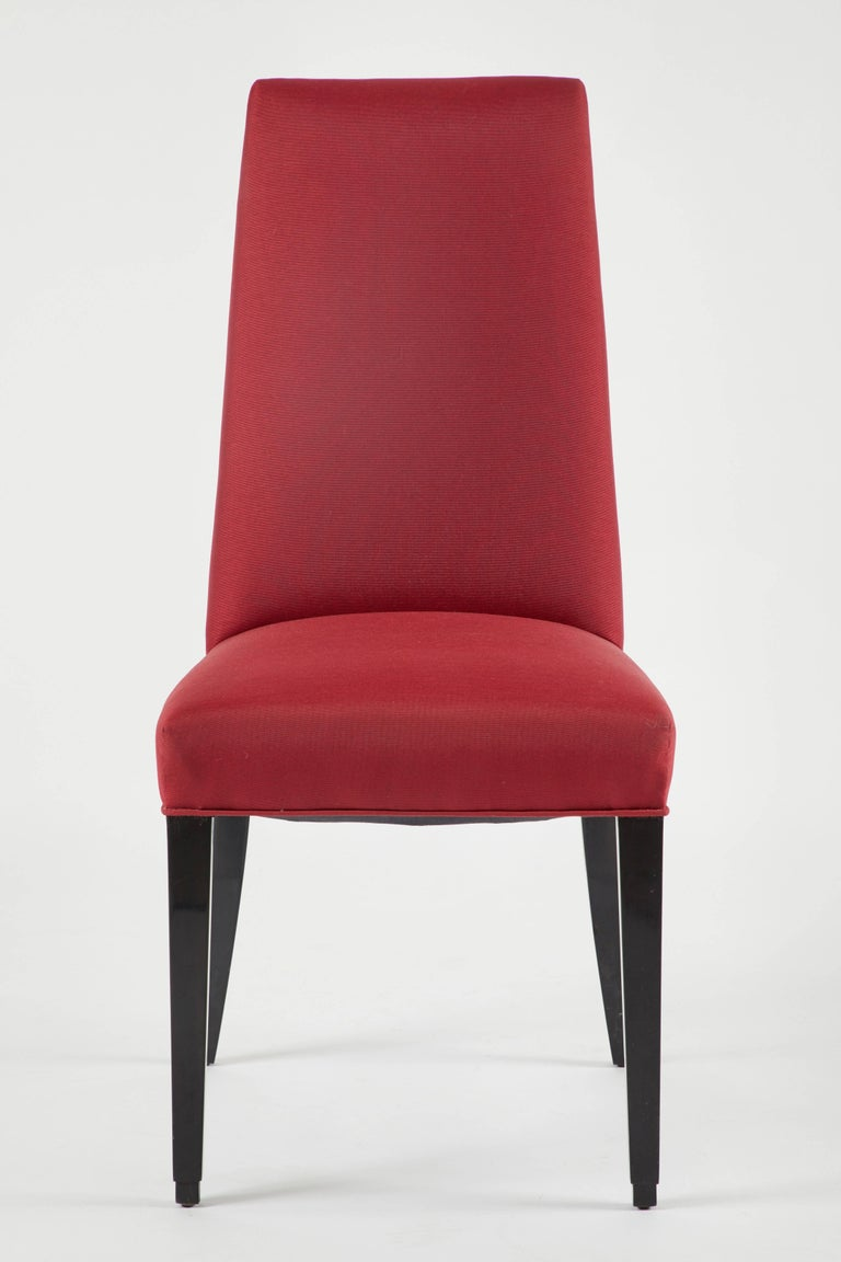 Mid-20th Century Set of 12 Red Dining Chairs For Sale