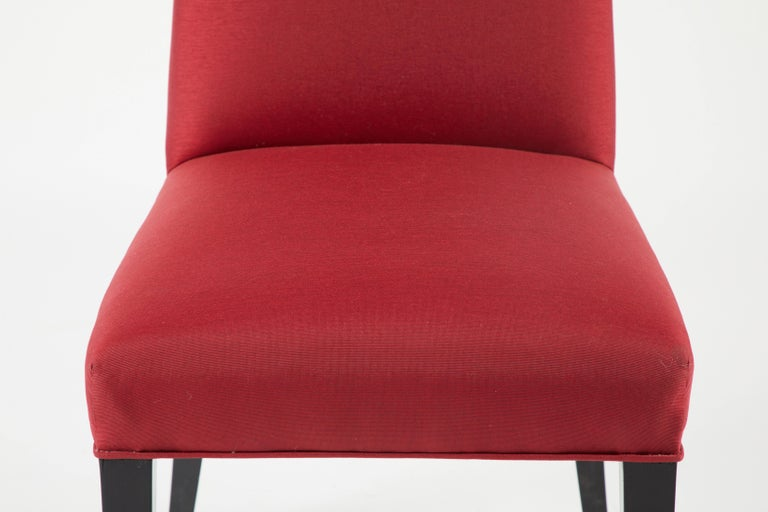 Wood Set of 12 Red Dining Chairs For Sale