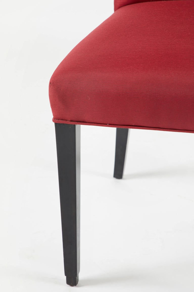 Set of 12 Red Dining Chairs For Sale 1