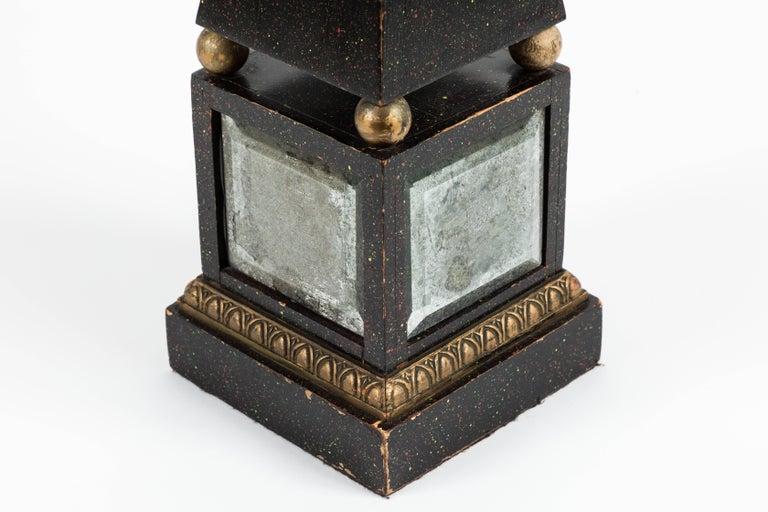 Mirror Pair of 'Hollywood Regency' Obelisk Lamps For Sale