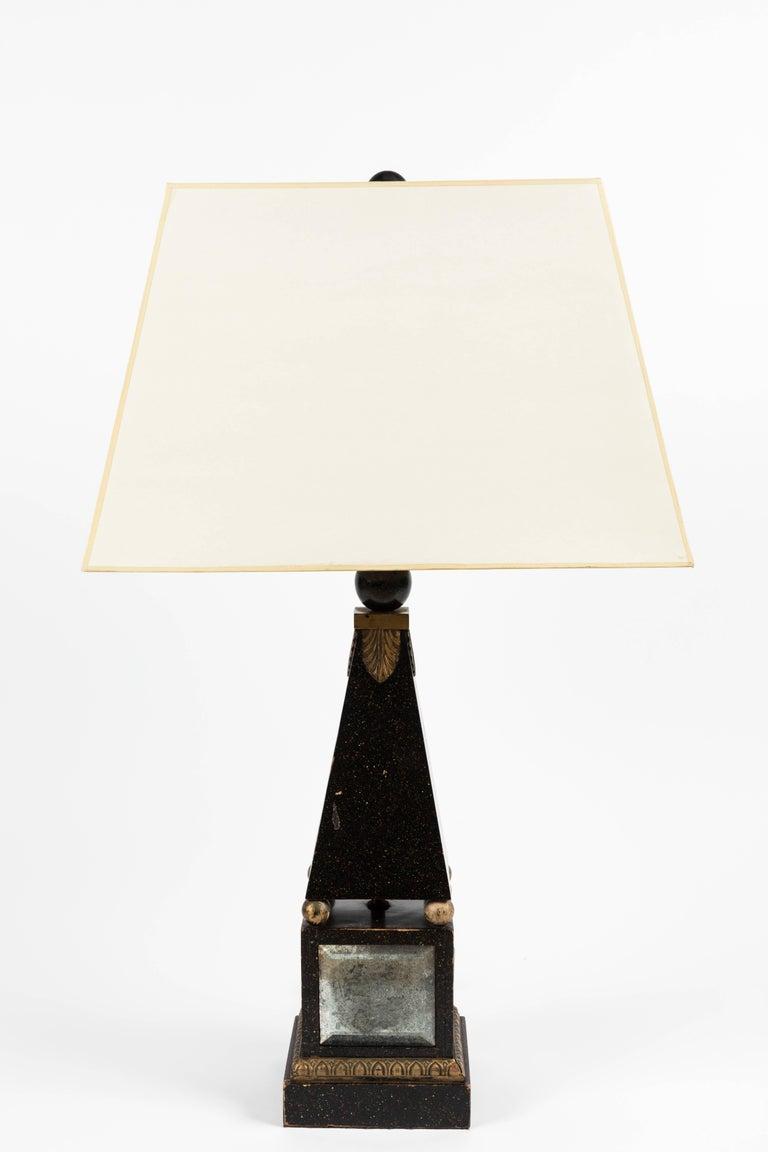 Pair of 'Hollywood Regency' Obelisk Lamps For Sale 2