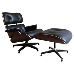 Eames Lounge Chair and Ottoman, Rosewood, Herman Miller