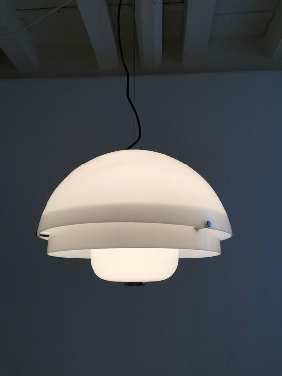 Wonderful ceiling lamp designed by Luigi Massoni for Harvey Guzzini, model