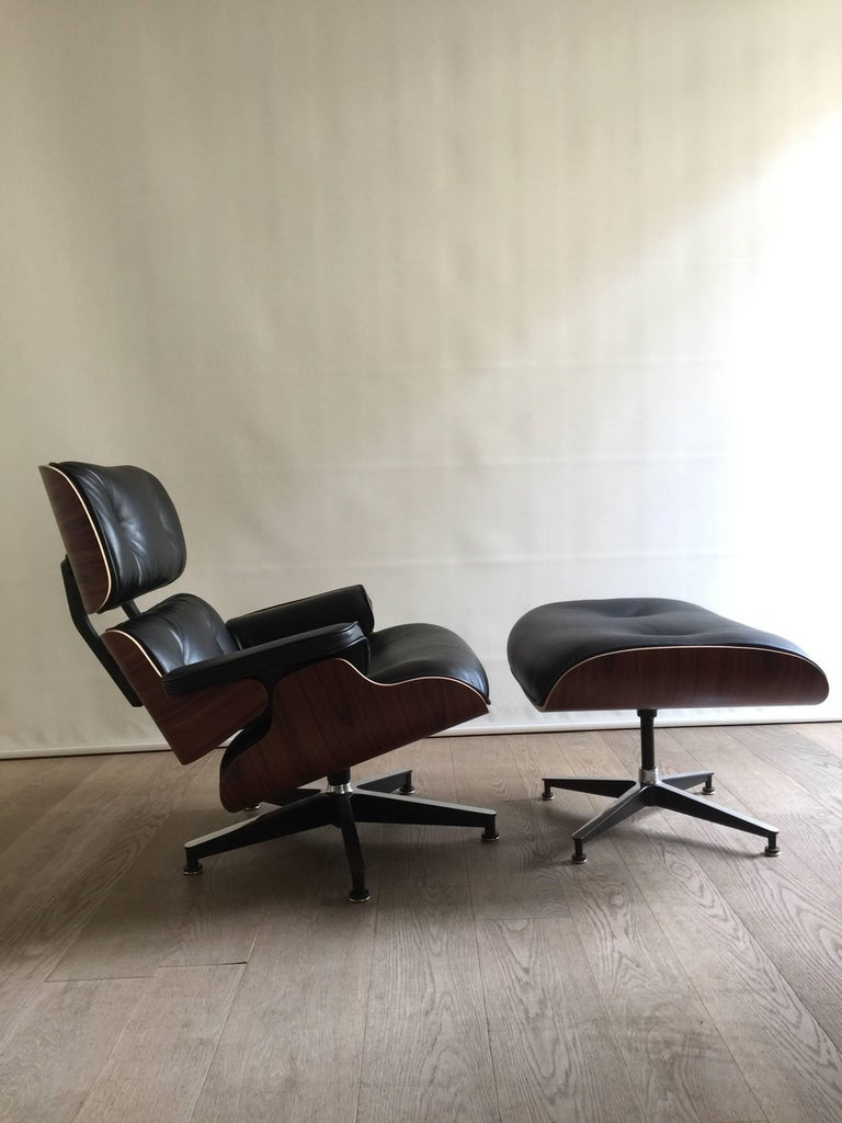 Eames lounge chair and ottoman rosewood herman miller - Herman miller lounge chair and ottoman ...