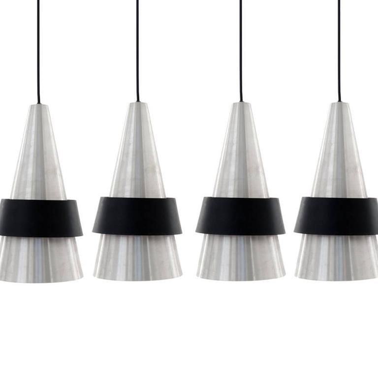 Jo Hammerborg 1960s Corona Model Pendant Lamp in Polished Metal