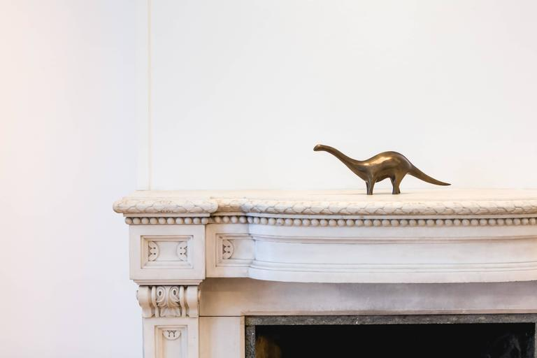 Mid-Century Modern Limited Edition Contemporary Cast Bronze Apatosaurus Sculpture For Sale