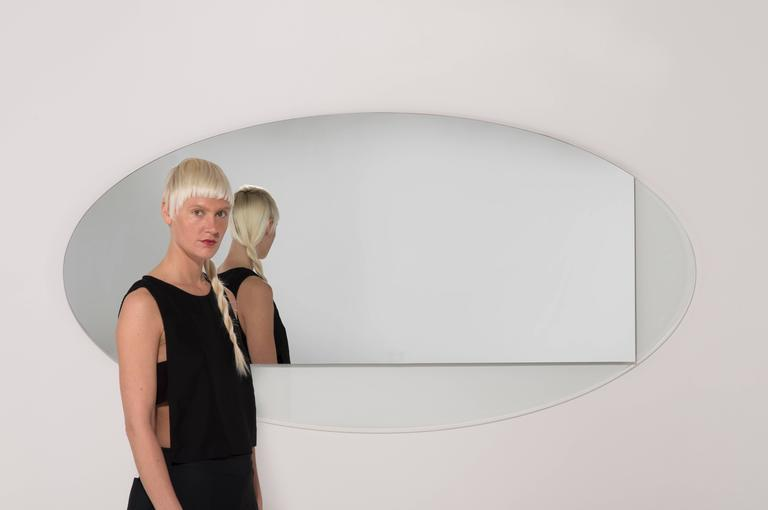American Ida Mirror Collection Contemporary Oval For Sale