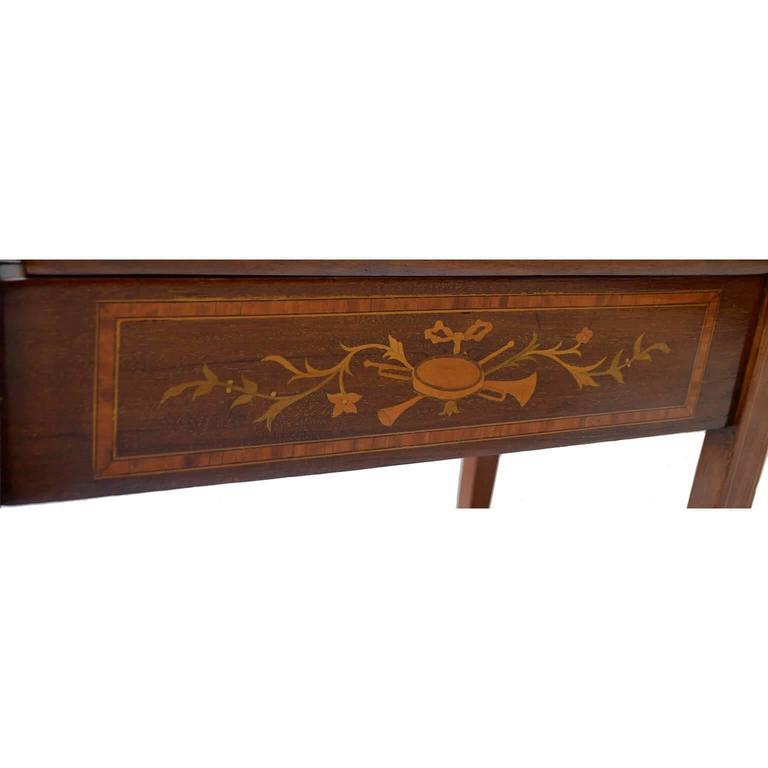 Mahogany Piano Stool With Pear Inlay For Sale At 1stdibs