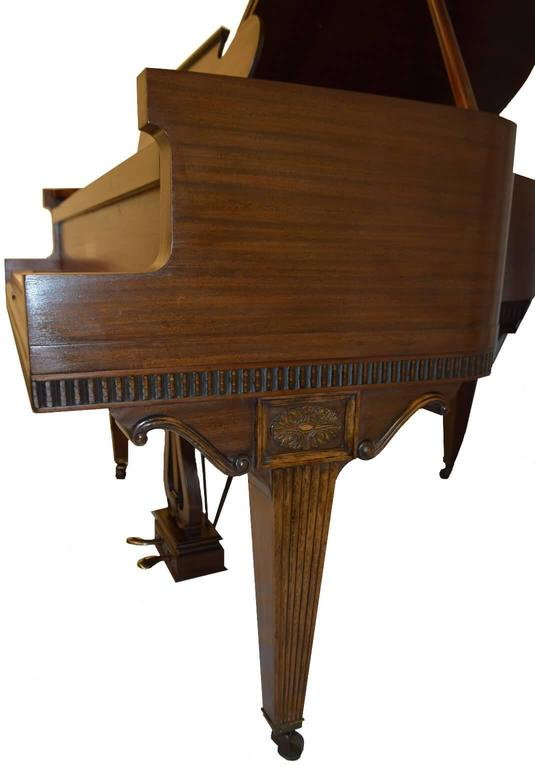 British Weber Baby Grand Piano in Regency Style For Sale
