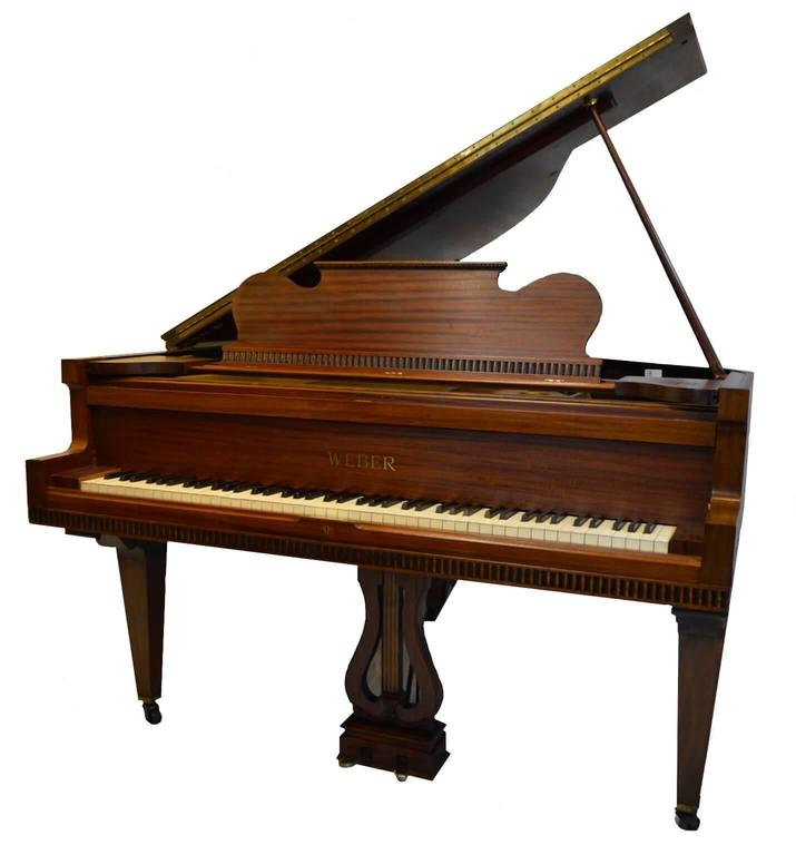 Weber Baby Grand Piano in Regency Style In Good Condition For Sale In Macclesfield, GB
