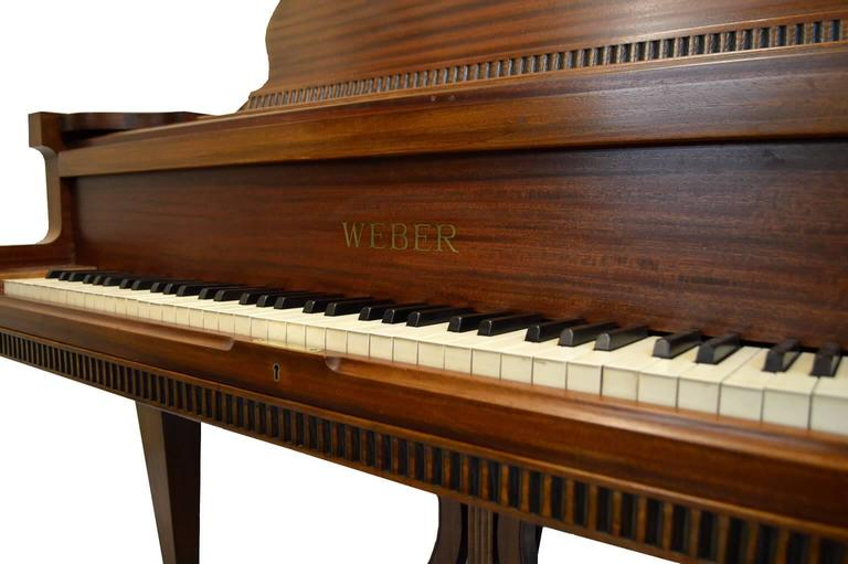 Mid-20th Century Weber Baby Grand Piano in Regency Style For Sale