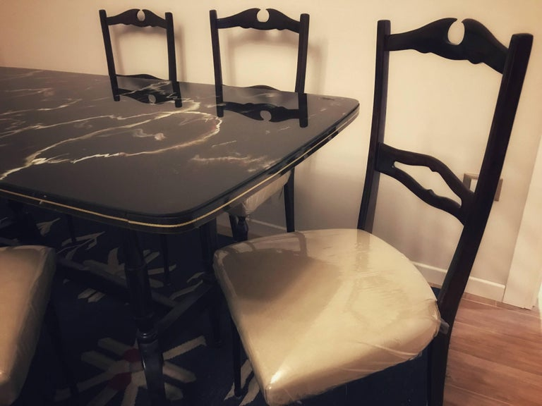 Mid-Century Modern Midcentury Dining Room Set for Six, Attributed to Paolo Buffa For Sale