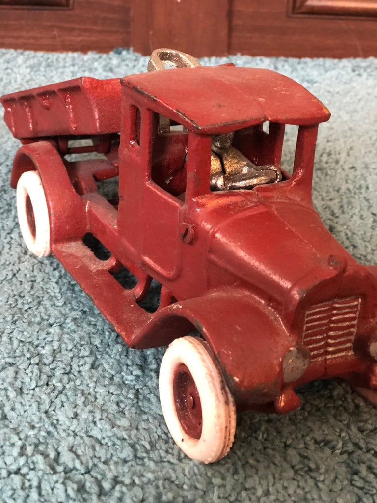 20th Century French Metal Model of a Red Toy Lorry Truck For Sale 2