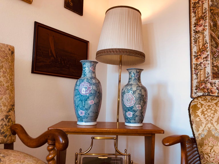 A pair of Chinese large flower vases.