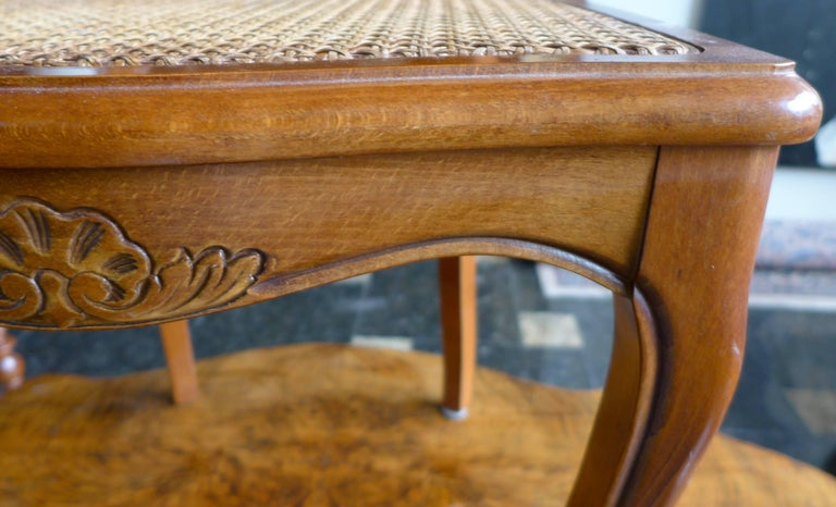 20th Century Pair of French Carved Walnut Chairs in Style of Louis XV For Sale