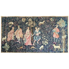 20th Century Large Artis Flora Handmade Tapestry