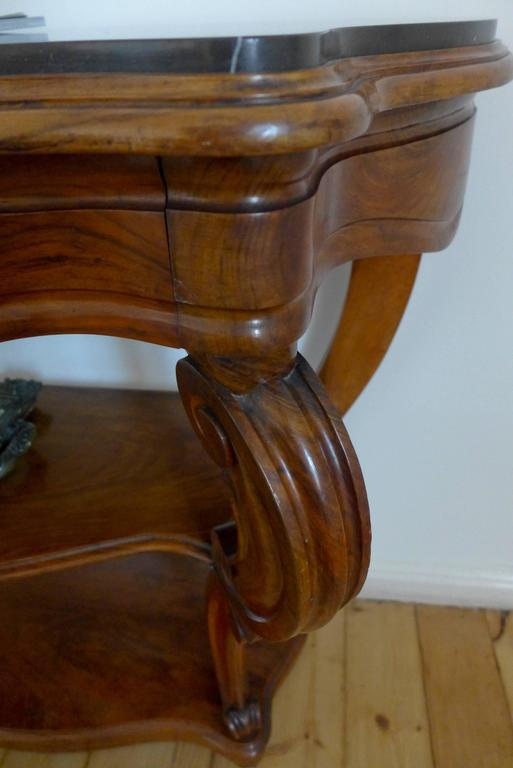 Beautiful Antique Century Furniture Dining Room Table And: Beautiful 19th Century Antique French Walnut Console For