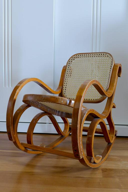 Vintage Bentwood Child S Rocking Chair Circa 1940s For