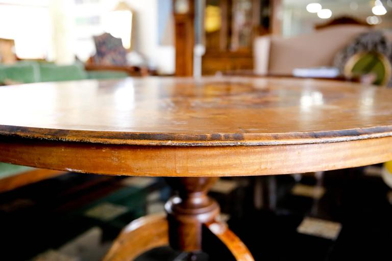 19th Century French Inlaid Walnut Breakfast Table 2