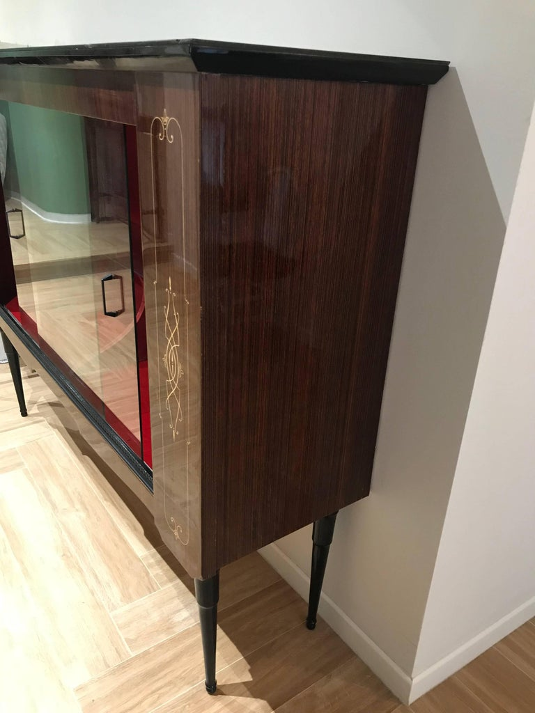 Display italian cabinet vitrine paolo buffa for sale at for Sideboard vitrine