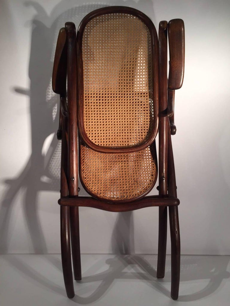 Rare Michael Thonet Folding Lounge Chair 1890 For Sale At