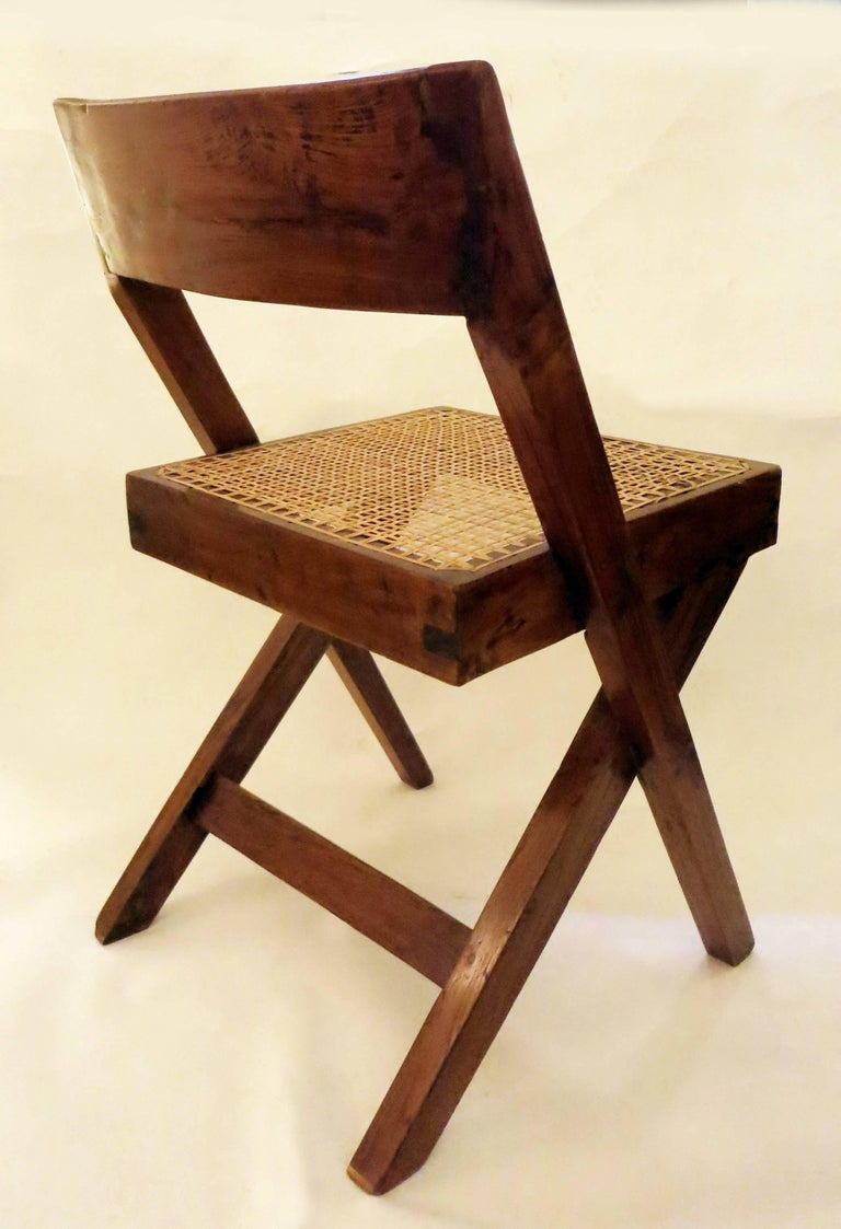 Pierre Jeanneret Library Chair, 1950s 6