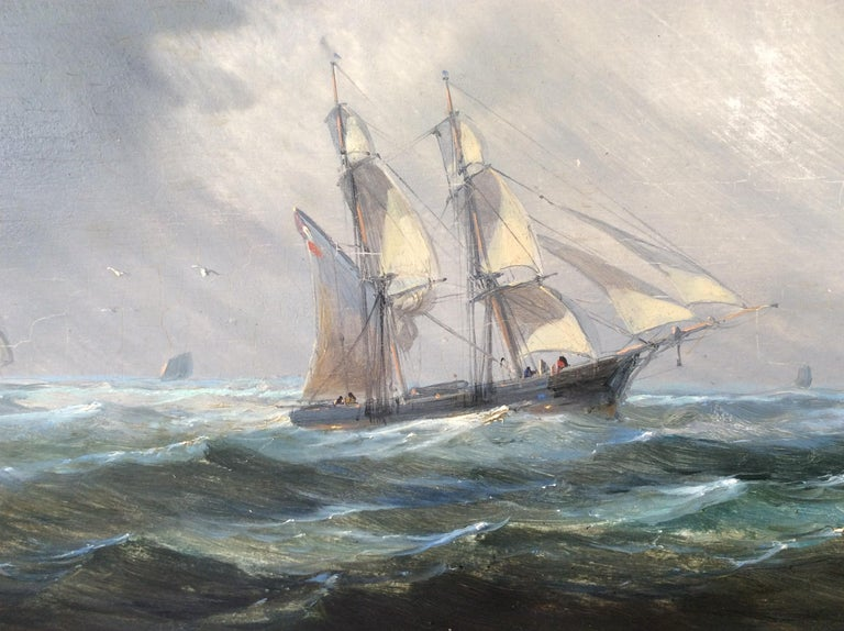 Other Painting Marine style of Carl Frederik Sørensen For Sale